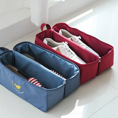 美麗大街【BFJ03E5E21】旅行多功能拉鍊分隔式鞋子小物長型整理收納袋