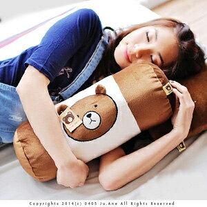 美麗大街~103021013~超夯表情公仔熊圓筒型抱枕