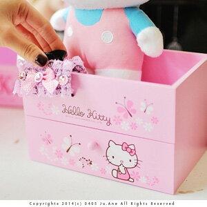 美麗大街【103021037】Hello Kitty可愛居家系列甜蜜粉單格單抽式收納櫃