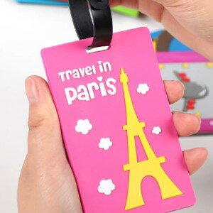 美麗大街【BFN08E1E1】卡通旅行箱行李牌包包吊牌托運牌