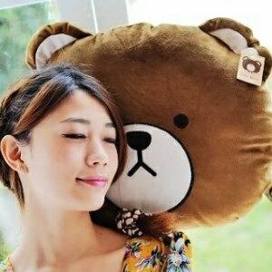 美麗大街【S103021703】熊大造型12吋大頭抱枕