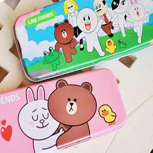 美麗大街【103050103】夯表情公仔饅頭人兔兔熊大系列雙層鐵筆盒收納盒