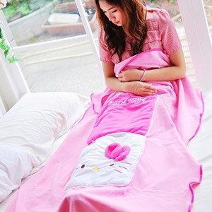 美麗大街【103051014】Hello Kitty粉色大頭兩用抱枕 收納被毯