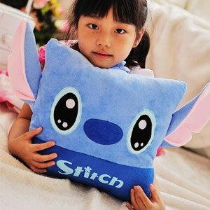 美麗大街【103051028】迪士尼 藍色史迪奇大頭造型12吋方形抱枕