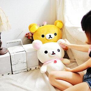 美麗大街【103070213】拉拉熊懶熊茶熊波點領巾款52公分公仔玩偶