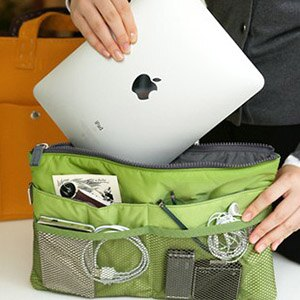 美麗大街【BF300E25E855】平板電腦雜物旅行收納包中包