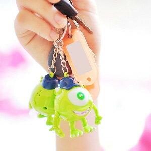 美麗大街【103100820】迪士尼怪獸電力公司大眼仔LED燈發聲公仔鑰匙圈