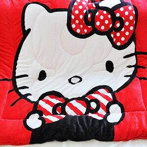 美麗大街【103110306】三麗鷗HELLO KITTY我的小可愛紅色款雙面花色冬季暖暖法蘭絨毛毯被