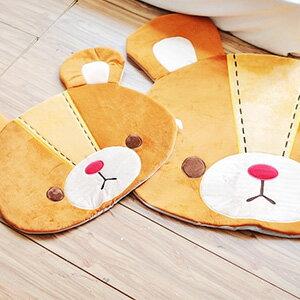 美麗大街【10311110401】Truffe熊 發條熊可愛大頭造型小款室內浴室地毯地墊腳踏墊