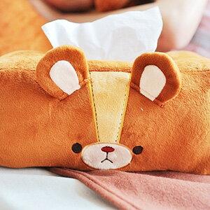 美麗大街【10311110402】Truffe熊 發條熊可愛大頭造型面紙盒套