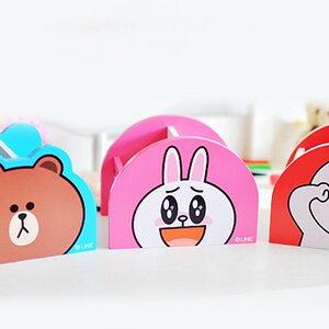 美麗大街【103122415】超夯表情公仔系列熊大兔兔饅頭人單抽桌上型木製收納盒