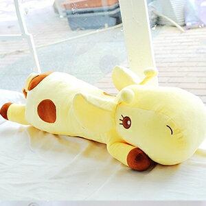 美麗大街【104010102】特大款可愛長頸鹿趴姿款玩偶抱枕