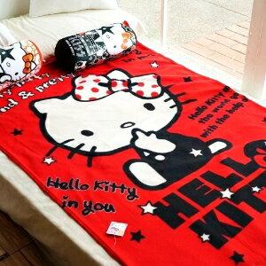 美麗大街【104020965】三麗鷗Hello Kitty我就是時尚紅色刷毛四季毯 懶人毯 冷氣毯 車用毯