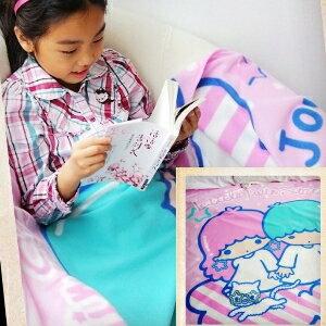 美麗大街~104030109~三麗鷗KIKILALA雙子星享樂 刷毛四季毯 懶人毯 冷氣毯