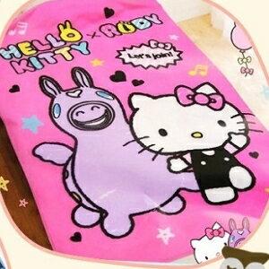 美麗大街【104030115】三麗鷗Hello Kitty&RODY跳跳馬繽粉樂刷毛四季毯 懶人毯 冷氣毯 車用毯