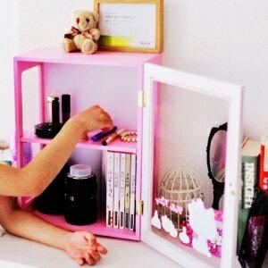 美麗大街~104040723~Hello Kitty粉色可愛木製二層收納櫃 置物櫃 桌上收