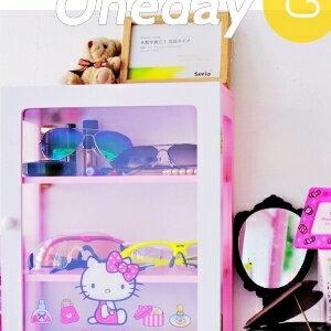美麗大街【104040724】Hello Kitty粉色可愛木製三層收納櫃 置物櫃 桌上收納盒