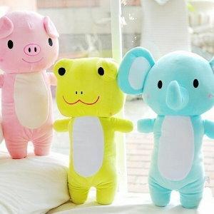美麗大街【104041505】小豬 青蛙 大象 玩偶 長型抱枕 12吋