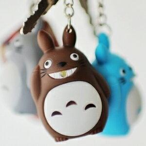 美麗大街【104051706】可愛龍貓造型LED吊飾鑰匙圈(不挑款)