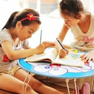 美麗大街【104051724】哆啦a夢圓形造型可收納式木製摺疊桌和式桌
