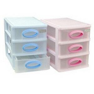 美麗大街【BFH16E5E25E1EK49】多功能透明三層小物文具桌面收納盒
