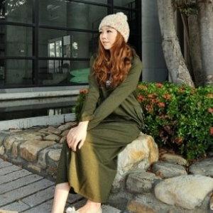 美麗大街【UF010402】甜美條紋幾何娃娃裝/大尺碼洋裝/孕婦裝/長袖洋裝(隨機出貨)