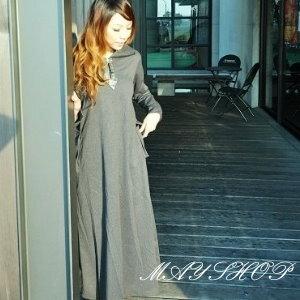 美麗大街【UF010403】甜美條紋幾何娃娃裝/大尺碼洋裝/孕婦裝/長袖洋裝(隨機出貨)