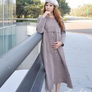 衫皇衫家【UF010442】甜美條紋幾何娃娃裝/大尺碼洋裝/孕婦裝/長袖洋裝(隨機出貨)