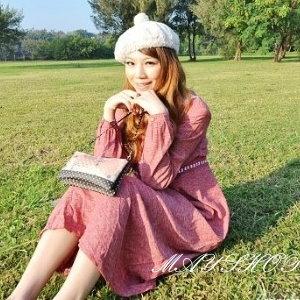 衫皇衫家【UF010445】甜美條紋幾何娃娃裝/大尺碼洋裝/孕婦裝/長袖洋裝(隨機出貨)