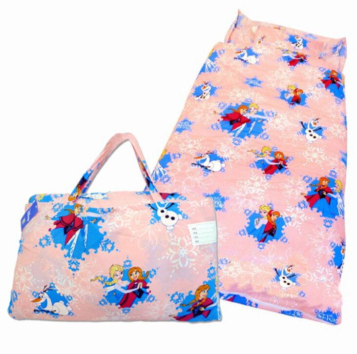 今日我最優惠~【【嫁妝寢具】卡通兒童幼稚園睡袋 /冰雪奇緣/可拆洗睡袋/台灣製造