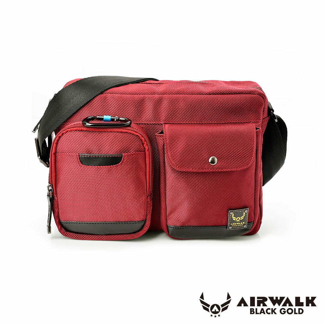 AIRWALK 黑金系列。移動裝甲。母子隨身二用口袋側背包【A331412140】紅【禾雅】
