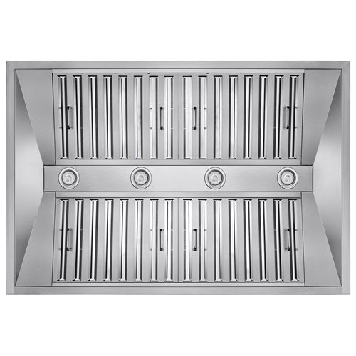 "36"" Stainless Steel Wall Mount Range Hood Touch Control Halogen Light Lamp Baffle Filter 2"