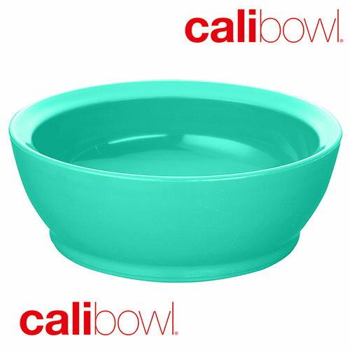小烏龜精品童裝店:【美國CaliBowl】專利防漏防滑幼兒學習碗(單入無蓋)12oz-藍綠色