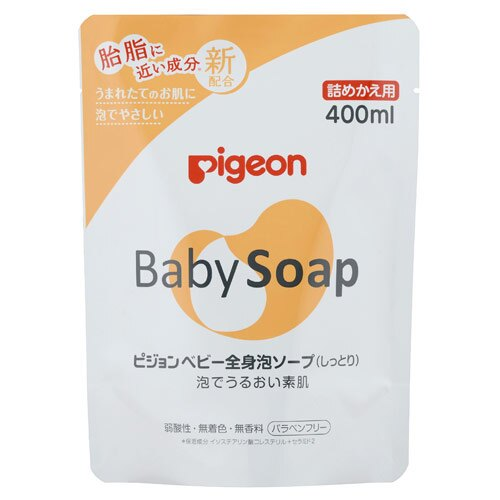 Pigeon貝親 - 滋潤型泡沫沐浴乳補充包 400ml 0
