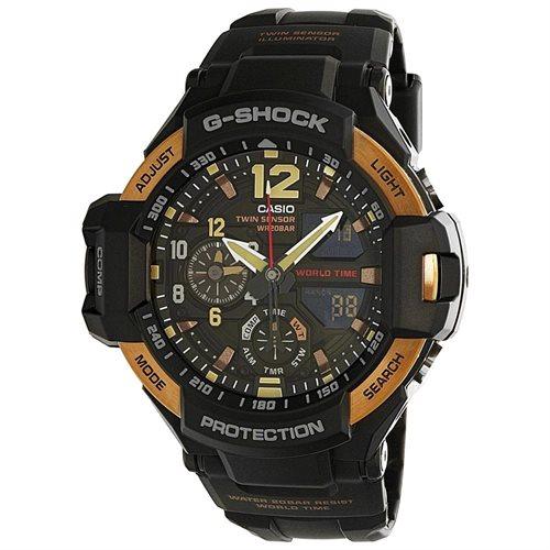 Casio GA1100RG-1A Black Resin Watch 0