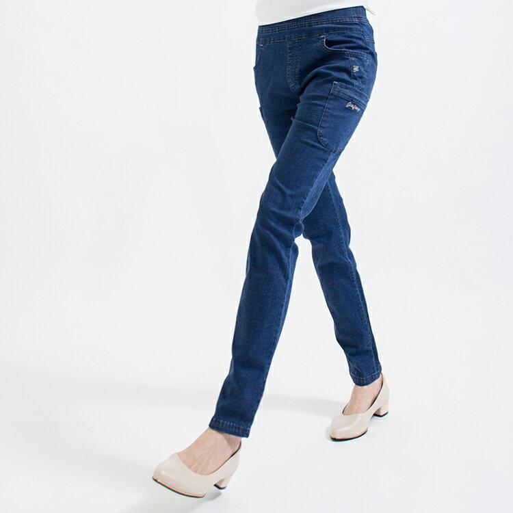 MIT帥氣口袋純棉水洗牛仔褲(M-2L)funsgirl芳子時尚 【B960537】