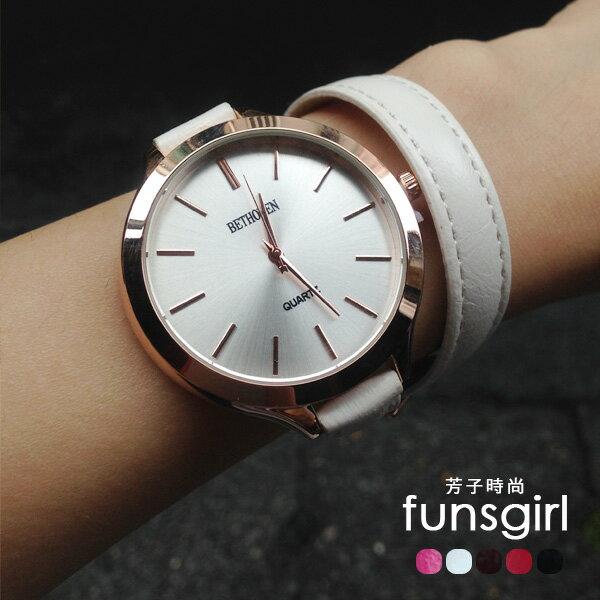 簡約文青纏繞式手環手錶5色~funsgirl芳子時尚【B230029】