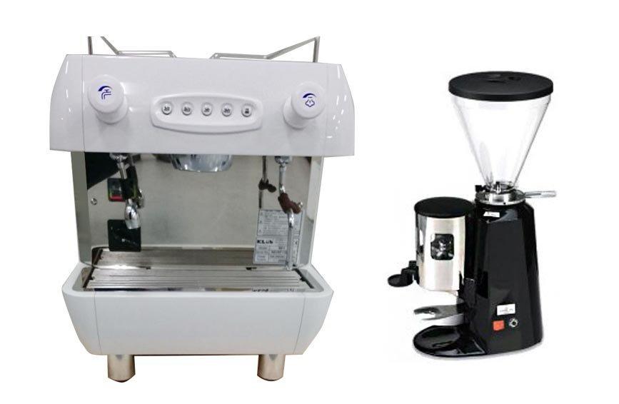 咖啡機租賃- KLUB R1 單孔營業用咖啡機+磨豆機 (每個月租購只要2600元)--【咖啡簡餐店適用的咖啡機】