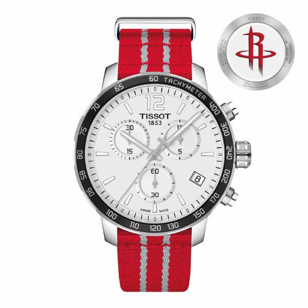 TISSOT天梭T0954171703712 NBA火箭隊特別版計時腕錶  白面42mm