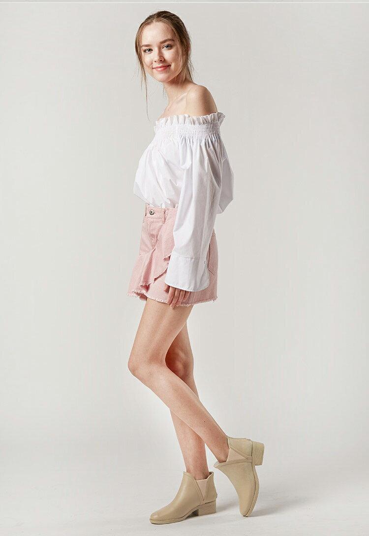 LINAGI里奈子【S692189】韓國代購短筒橡膠雨鞋女成人啞光歐美防滑切爾西雨靴 2