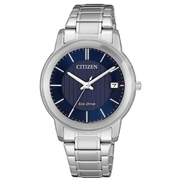 CITIZEN星辰錶 FE6011-81L 簡約時尚光動能女腕錶/藍 33.3mm