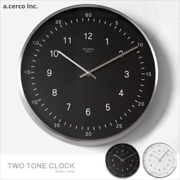 E  J~019002~a.cerco TWO TONE Clock 掛鐘 時鐘  鬧鐘