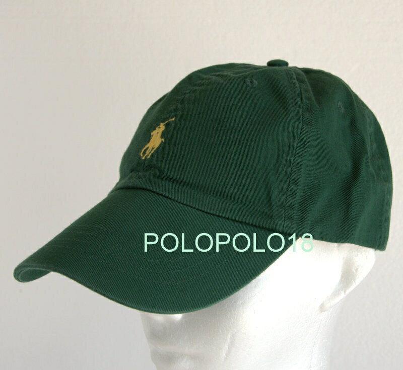美國百分百【全新真品】Ralph Lauren 帽子 RL 配件 棒球帽 Polo 小馬 帆布 刺繡 綠色 男 A732 預購款
