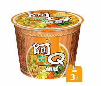 阿Q桶麵雞汁排骨風味(3碗組)【合迷雅好物商城】