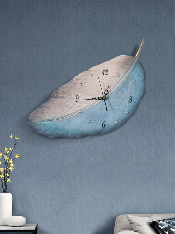 北歐風鐘錶藝術掛鐘家用客廳裝飾簡約現代 ins網紅個性時鐘免打孔免運- 快速出貨 限時下殺85折起