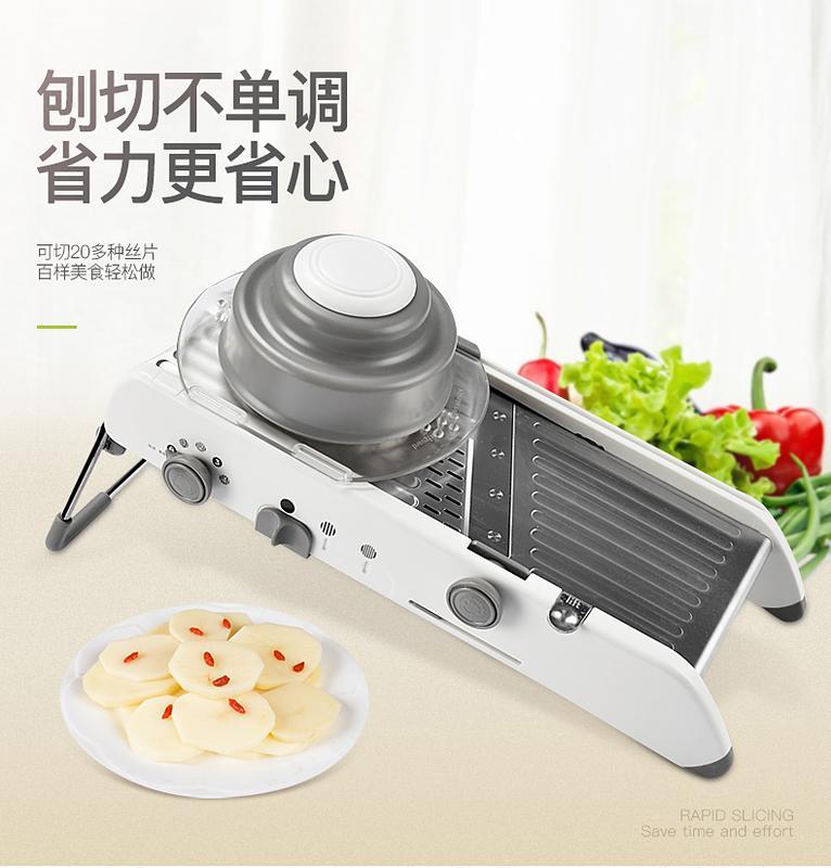 家用多功能不銹鋼切菜器切絲神器刨絲器切片器廚房擦土豆絲切絲器1入