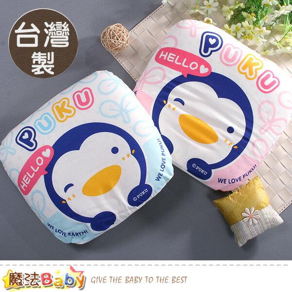 嬰兒枕PUKU藍色企鵝乳膠抗菌護頭凹枕魔法Baby~pp33108
