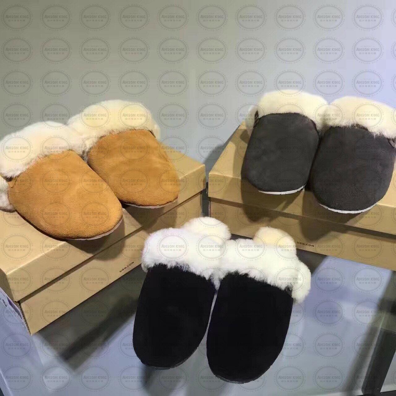 OUTLET代購 UGG 毛毛居家拖鞋 懶人鞋 真皮羊皮毛 雪靴 長靴 短靴 灰色 3