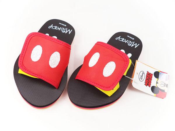 EMMA商城~ Disney迪士尼米奇大眼可調整輕量拖鞋紅16~21公分