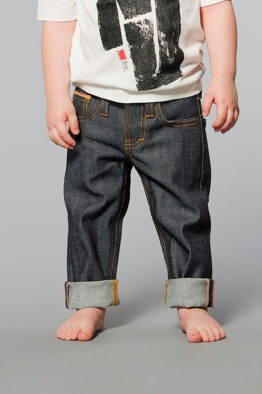 【Nudie嬰兒牛仔褲】 Babies Rinse Wash 原色布邊 / 1~5歲